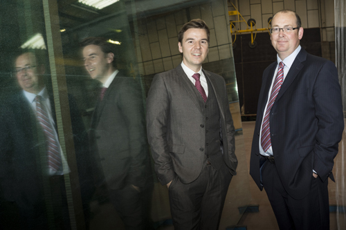 Left to right GG Glass finance director Richard Worrall with Alistair Pike, relationship director, SME Banking, Lloyds Bank Commercial Banking