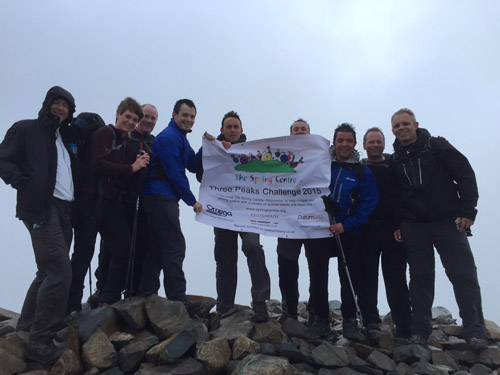 Members of the team at Scafell Pike