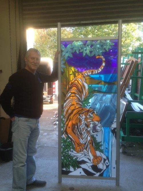 Dave with a Chinese tiger design