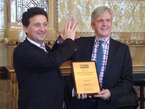 John Savage and Norman Hornigold of last year's award winner, SEHBAC