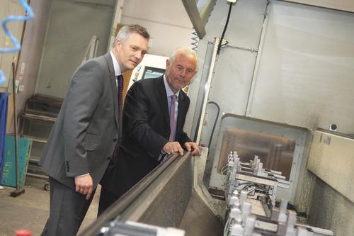 Stuart Judge, left, with John Pyatt in Crittall's Witham factory