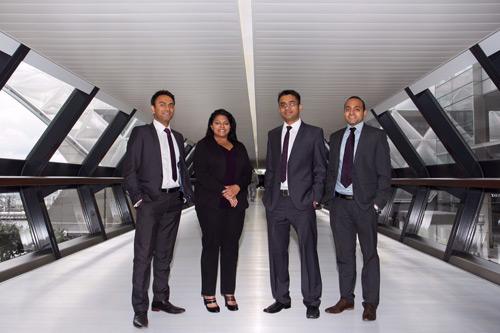 L-R: Sales director Jay Patel, marketing director Reena Gjoci, commercial manager Jayesh Hirani and operations director Yogesh Gopal