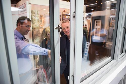 Apeer's Asa McGillian shows Lumi to Grand Designs visitors