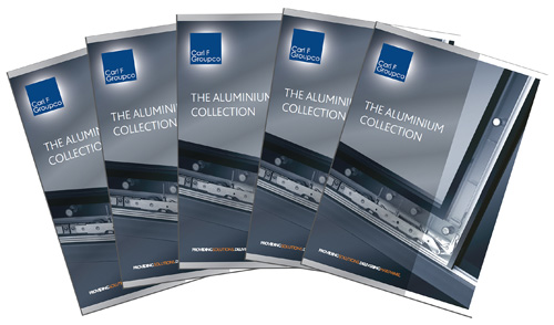 The latest literature from Carl F Groupco promotes the company's Aluminium Collection.