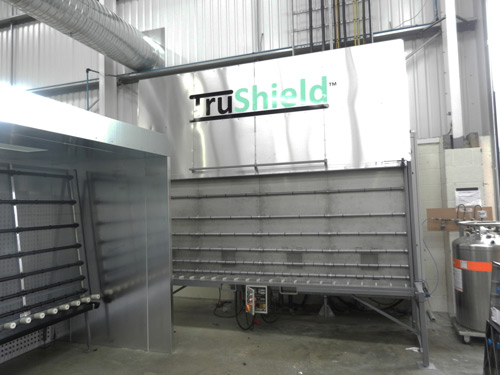 TruShield volume production line at Double R Glass & Roofing Systems