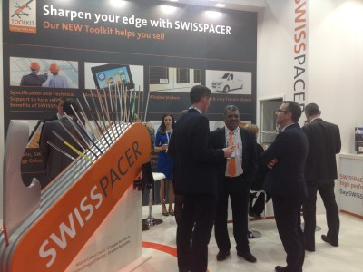 Swisspacer's busy stand at The FIT Show