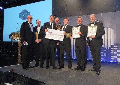 FIT Show 2016's Master Fitter Challenge winner Craig Hanson (third from right) receives his multiple awards and cheque for £5000 at the Gala Dinner