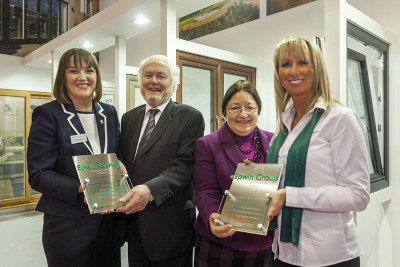 (L to R) Epwin's Clare O'Hara, Nigel and Sally Hunt of Cliffside and Epwin's Kat Earl
