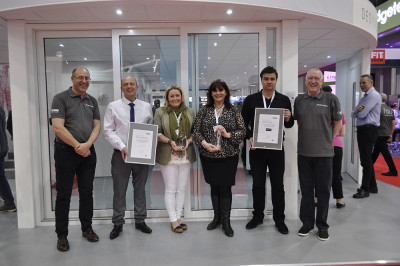 PR2085 REHAU presented their Authorised Partner of the Year trophies to Sedgefield Windows and Wilmslow Glass at the FIT Show