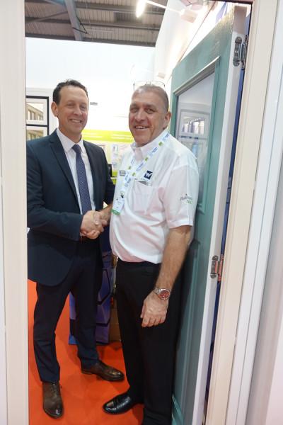 From left: Stephen Nadin (Endurance Doors) with Steve Milham (Whiteline Group)