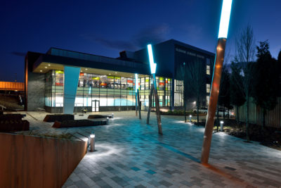 Oldham Leisure Centre, a recently completed building which features IGUs manufactured by Dual Seal Glass.
