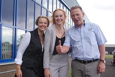 Helen Richardson (left) Laura Richardson (centre) and Terry Richardson (right)