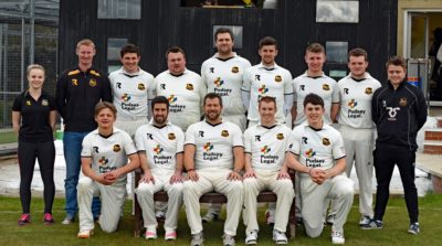 The Pudsey St Lawrence team prior to their victory at Headingley in the semi-final of the Yorkshire Premier Cricket Championship
