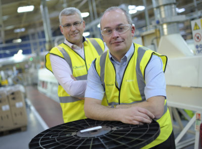 Managing director, Chris Alderson and works manager, John Stark in the Edgetech manufacturing facility
