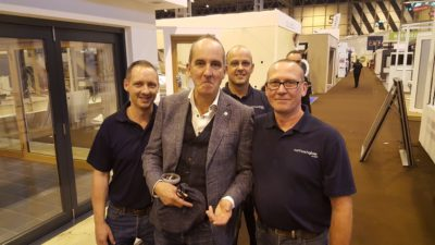 Northwich Glass & Kevin McCloud at Grand Designs Live