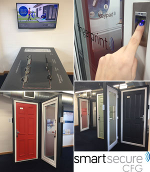 Carl F Groupco's interactive showroom showcases the capabilities of SmartSecure's electronic locking and smart access control capabilities.