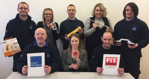 Carl F Groupco staff prepare to showcase a wide range of hardware products at FIT Show 2017.