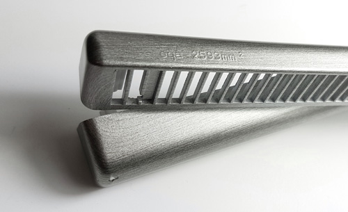 Mill finish Silver trickle vent from Glazpart