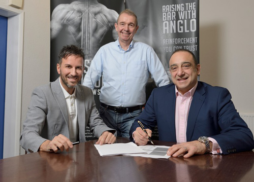 Paul Sullivan, MD Anglo European and director of Aluminium Shapes, Peter Toland chairman of Anglo European and Aluminium Shapes, Joe Martoccia CEO, Aluminium Shapes