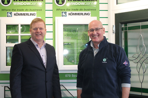 from left to right: Kevin Warner of Kömmerling with Jim Moody of Tradelink Direct.