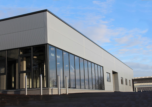 The AluFoldDirect Aluminium Glazing Design Centre Features Jack Aluminium's Commercial Doors