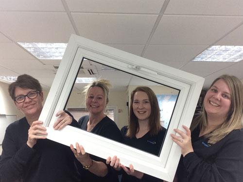 Katrina Stone (second from right) has joined the Euroglaze customer service team