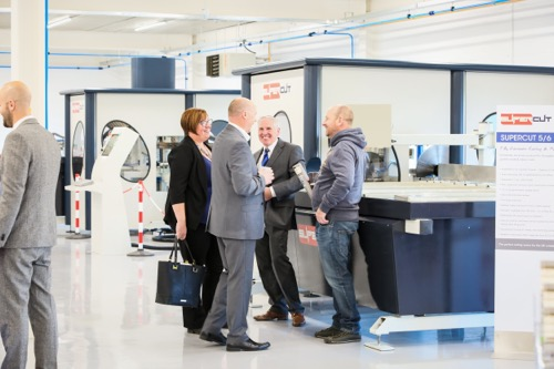Tours of the new Liniar House facility included the Avantek Machinery showroom