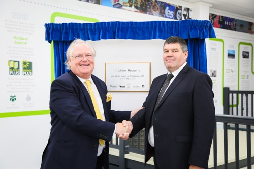 Roger Hartshorn (right) and special guest, Lord Digby Jones unveil the new facility