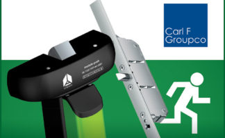A comprehensive range of panic and emergency exit hardware is available from Carl F Groupco. Image shows Strand Antipanic gearing (left) and a FUHR emergency exit lock.