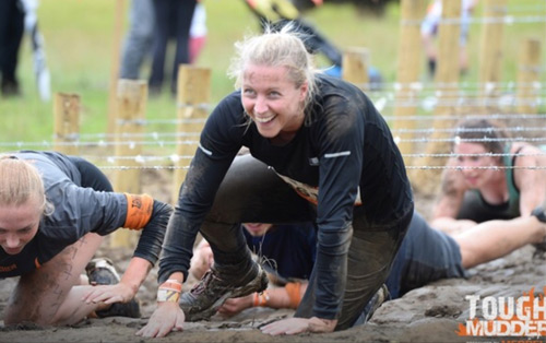Veka's Gabriela Hammond at Tough Mudder endurance event