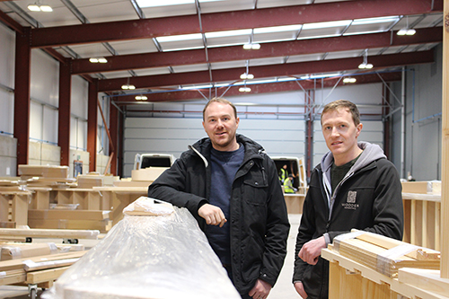 From left: Directors Tom and Alex Hancock