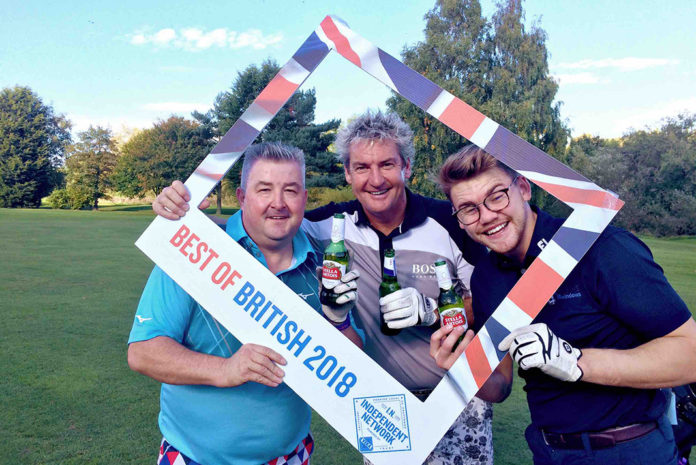 L-R: 'Outstanding' Golfer Craig Turner, Pete Mew and Thomas Mew of Mews Windows