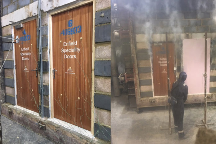 Fire doors exceeding legal requirement by 70%