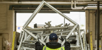 Recycling facilities at CMS Window Systems