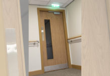 A fire rated door-set manufactured by West Port, built using Rapierstar fasteners