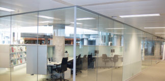 An installation of Promat Systemglas which has now been providing effective fire-rated solutions to the UK market for three decades