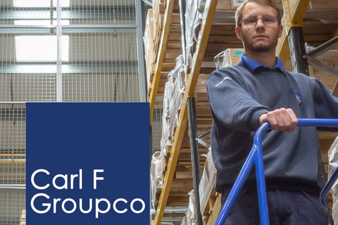 Richard Booth, a senior member of Carl F Groupco's warehouse team, is pictured with the company's new LED lighting.