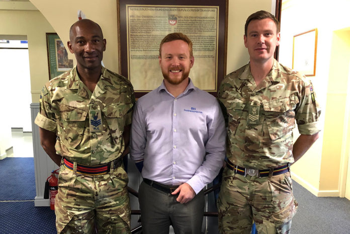 Nick Bailey from Business Micros pictured with represntatives from 4 Regiment Royal Logistics Corps during the recent Leadership Day