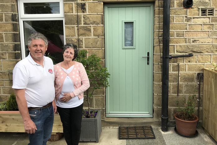 Lockwood's Richard Pogson and customer, Karen Lowther