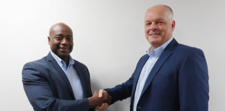 Sylvester Allen, national business development manager (left) and Kurt Greatrex, sales director (right)