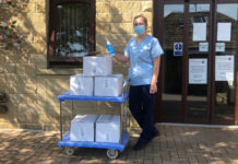 Bond It donates 100 bottles of sanitiser to Overgate Hospice