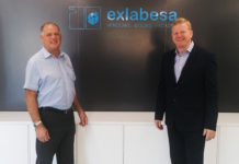 left to right: Simon Moore with sales director Kevin Warner